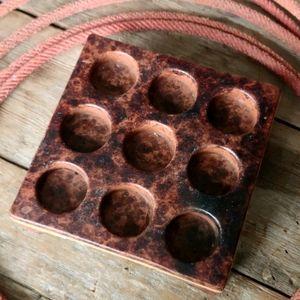 Rustic Nine Tea Ceramic Candle Holder